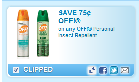 Off! Personal Insect Repellent Coupon