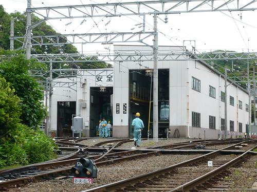 江ノ電2002Fと1502F@極楽寺検車区