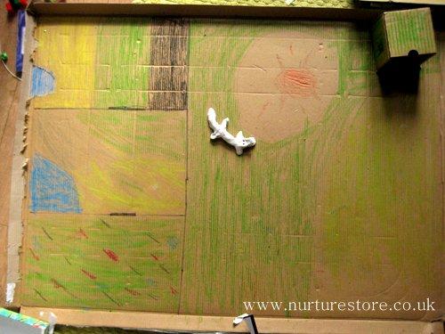cardboard box play