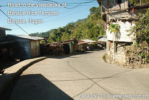 Road to the viewpoints of Banaue Rice Terraces, Ifugao