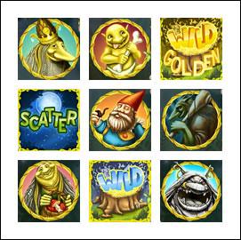 free Trolls slot game symbols