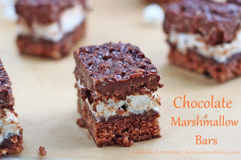 Chocolate Marshmallow Bars http://www.roxanashomebaking.com/chocolate-marshmallow-bars-recipe