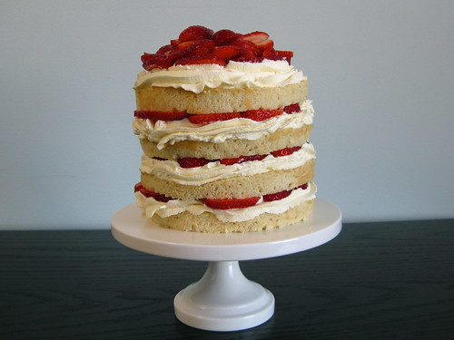 strawberry chiffon layer cake