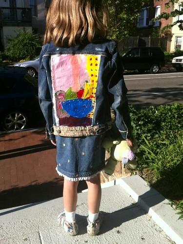 Leela in her jacket