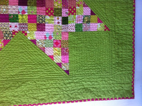 Made in Cherry Lime quilting detail