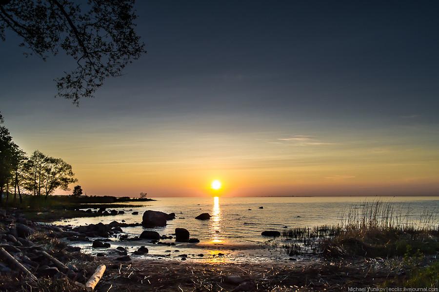 sunset on Finnish gulf