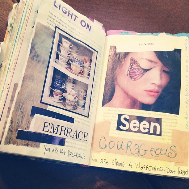 #artjournal prompt by @stargardener #courage #taj