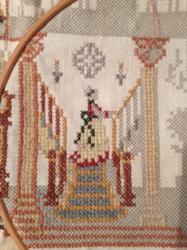 Cross stitch close up