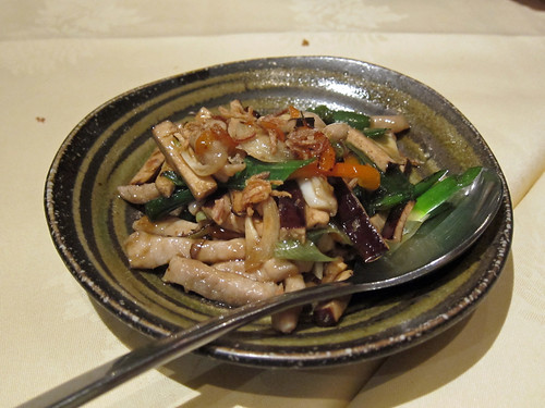 Dry Tofu with Sliced Pork