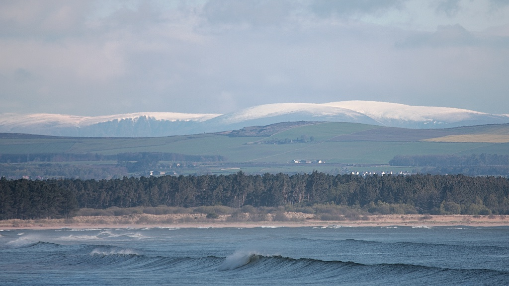 The Hills of Angus from St Andrews