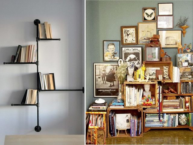 lumber rack ideas garage - DIY Bookshelves