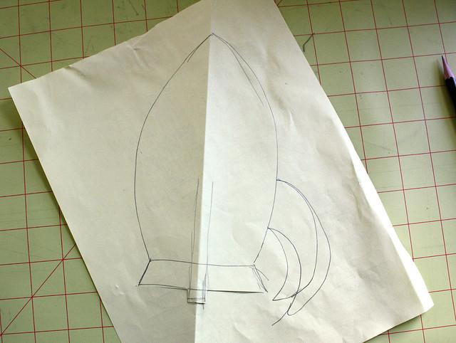 Rocket Pillow - draw template
