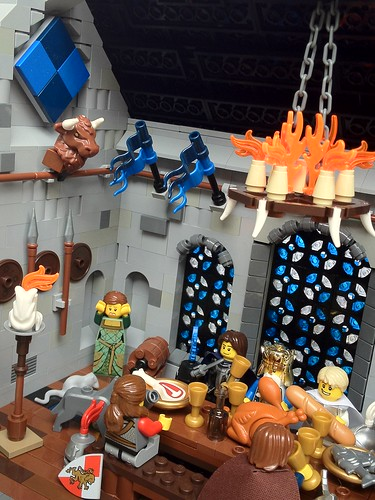 LEGO Castle feasting hall