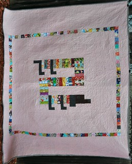 Back of Wonky ABC quilt