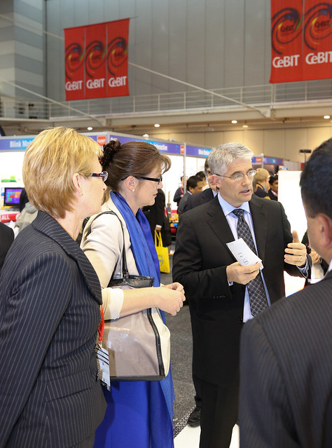 CeBIT 2012 - VIP Showfloor Tours - Senator Hon Kate Lundy