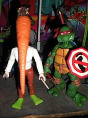 "DARK HORSE COMICS::   ""Flaming Carrot"" Action Figure xxiv  / .. NECA Leonardo  (( 1999 ))"