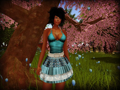 Gizza - Summer Outfit Aqua (free) by Cherokeeh Asteria