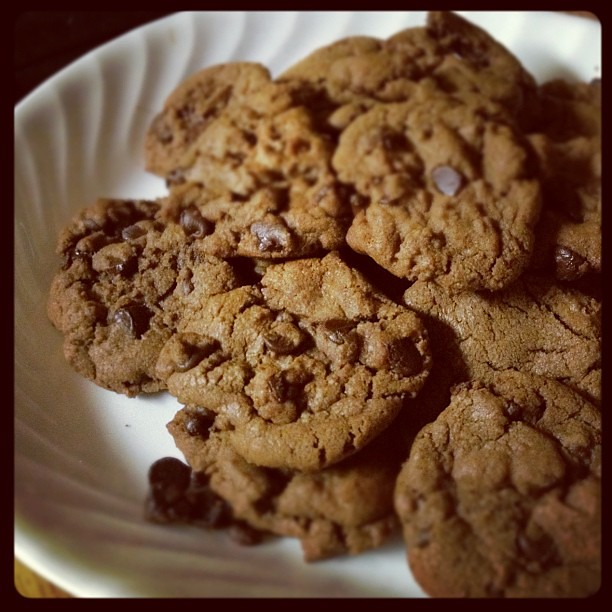 Chocolate Fudge Cookies that my boy made all by himself tonight. They're delicious!