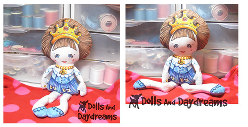 Pocket Princess Doll Hand Painted Fabric Markers Crayola 1