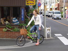 Beautiful Woman on Bike Tokyo