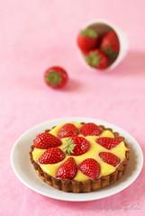 Tarte aux fraises et fruit de la passion
