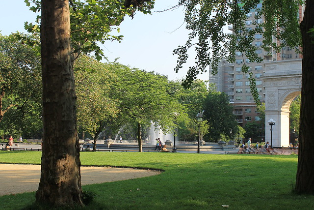 Washington Square Park, green lawns