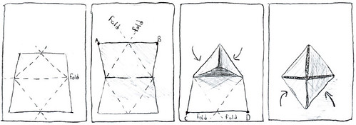 tetrahedron folding