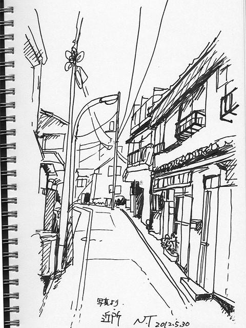 近所の路地 The neighborhood alley