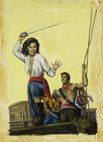 Original Paperback Book Cover Illustration, c.1950