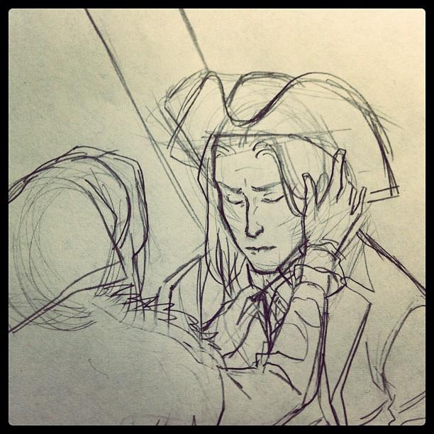 Pencilling.