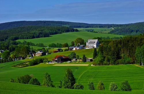 Landschaft im Vogtland bei Markneukirchen