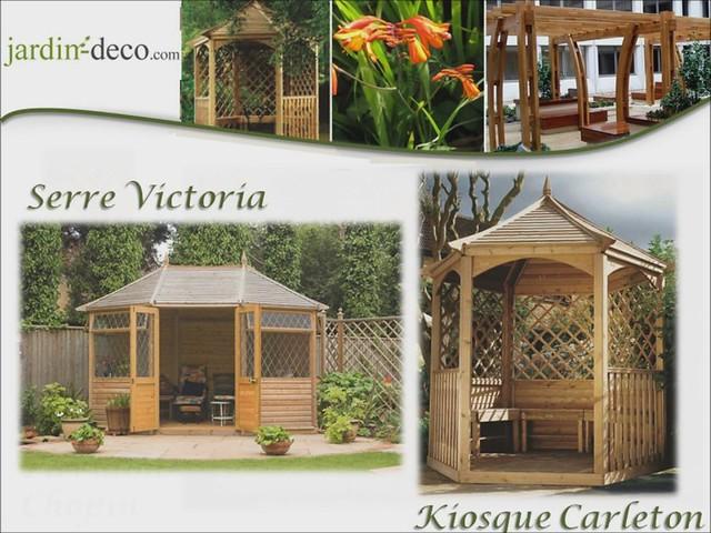Jardin abris de jardin en bois kiosques pavillons - Tonnelle de jardin ...