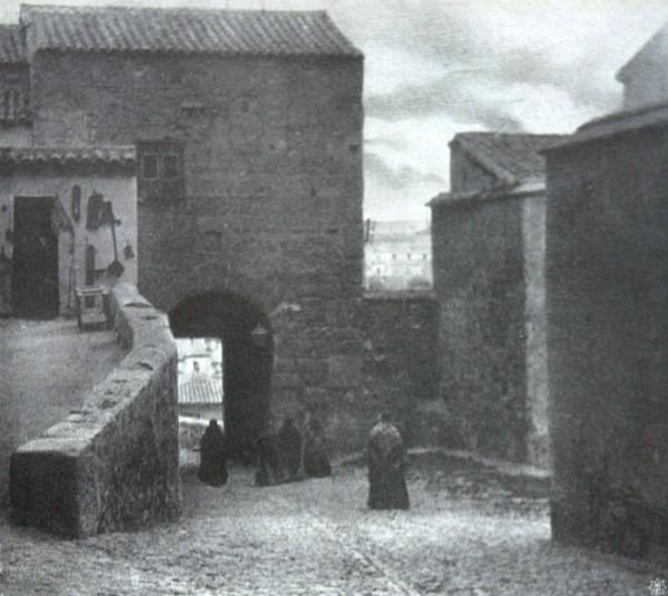 Puerta de Valmardón en 1907. Motiv aus Toledo. Dr. Carl Julius Rothberger