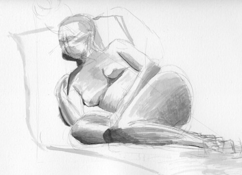 Ink Wash Figure