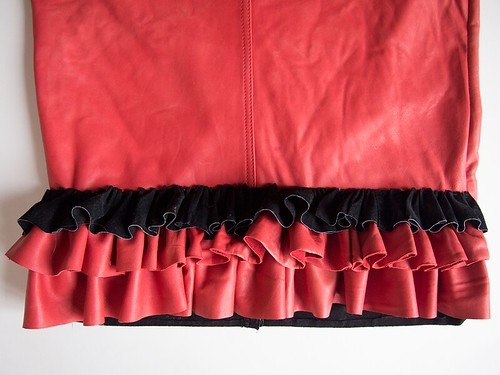 leather-skirt-ruffle