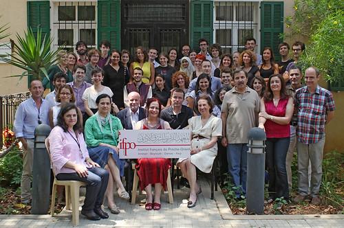 Photo de groupe du stage de langue arabe de l'Ifpo, 2011-2012