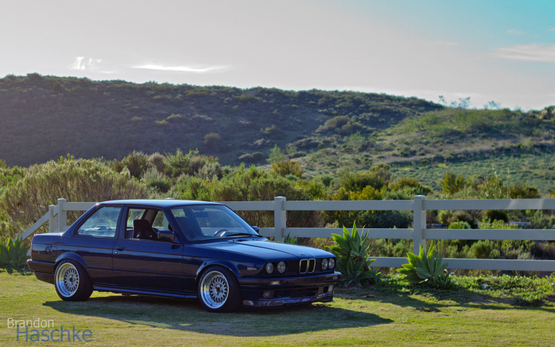 Rare 1991 Bmw E30 318is Slick Top Slammed Stanced Mystic Blue