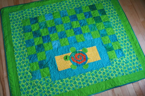 Turtle quilt - large view
