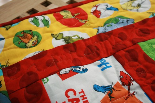 Dr. Seuss quilt - words