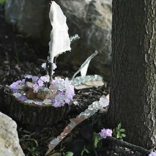 "Fidget's fairy house - ""Lilac's Castle Island"""