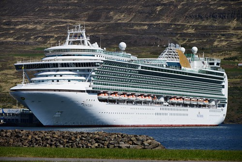 The cruiser Ventura in Akureyri by hilmarsigurpalsson