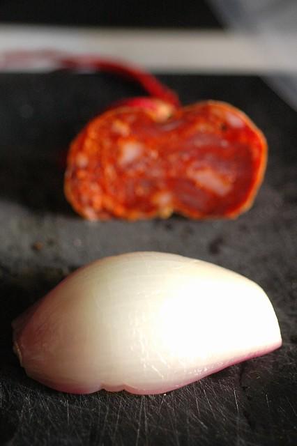 Cipolla di Tropea cotta sottovuoto con soppressata