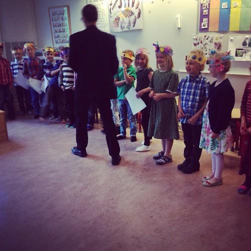 Klaras klass får diplom