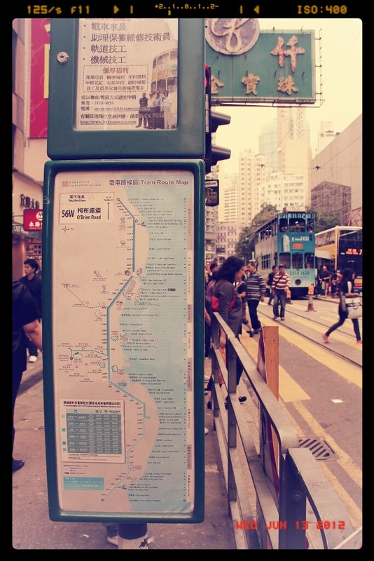 Hong Kong Tram System Map, Hong Kong Tram