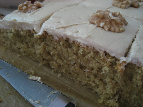 Coffee and walnut cake for Graham
