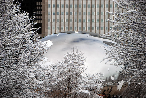 Snow Covered Cloudgate, Millennium Park, Chicago, March 12, 2014 155 full bp
