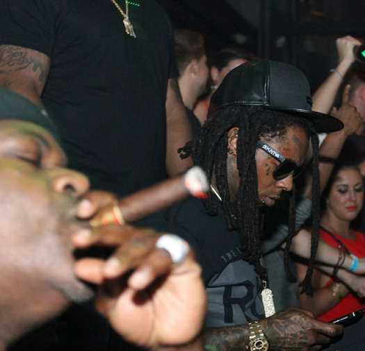 Lil Wayne Attends LIV Nightclub With Birdman & Juvenile, Moment Gets Played