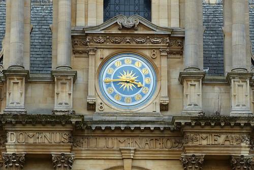 Dominus illuminatio mea horloge Oxford