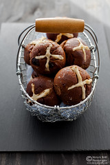 Chocolate Prune Cherry Hot Corss Buns (0007)
