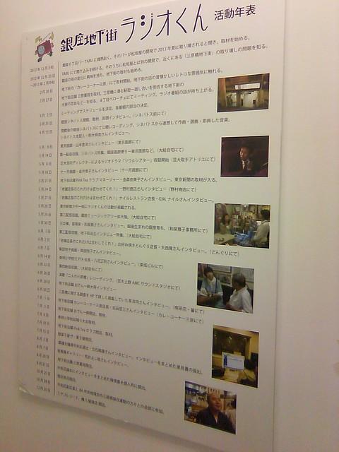 銀座地下街ラジオくん活動年表